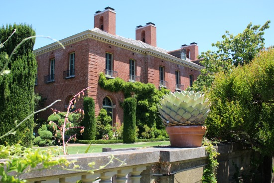 Filoli Mansion back of the house