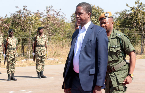 President Edgar Lungu at Lusaka National Park-Picture by Tenson Mkhala