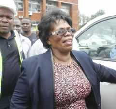 Nkandu Luo at High Court after losing her Munali seat-Picture by Tenson Mkhala