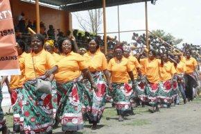 UNIP women's league march in Chilanga-Picture by Tenson Mkhala