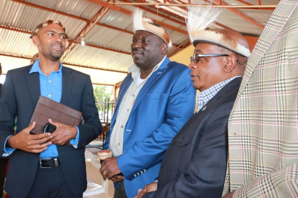 Local government minister Vincent Mwale, Defense minister Davis Chama and former education minister John Phiri during 2016 N'cwala ceremony in Chipata-picture by Tenson Mkhala