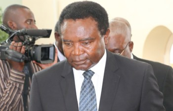Heritage Party Leade4r Godfrey Miyanda in Lusaka-picture by Tenson Mkhala