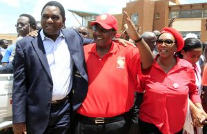 HH, GBM and wife at court in Lusaka-picture by Tenson Mkhala