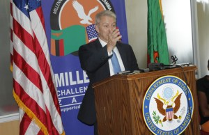 American Ambassador to Zambia Eric Schultz in Lusaka-picture by Tenson Mkhala