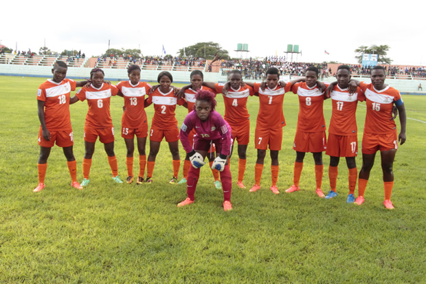 Zambia National Women football team in Lusaka-picture by Tenson Mkhala