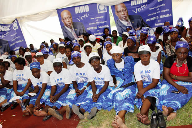 MMD supporters in Lusaka-picture by Tenson Mkhala