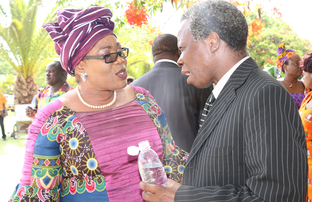 Peoples Party Leader Mike Mulongoti with Vera Chiluba  in Lusaka-Picture by Tenson Mkhala