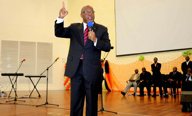 Dr Nevers Mumba at Government Complex in Lusaka-picture by Tenson Mkhala