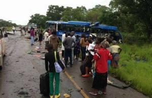 Mazhandu Bus accident scene