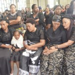 Late Joe Chibangu's wife Jubilee ( second from right) with relatives at Cathedral of the Holiy Cross in Lusaka