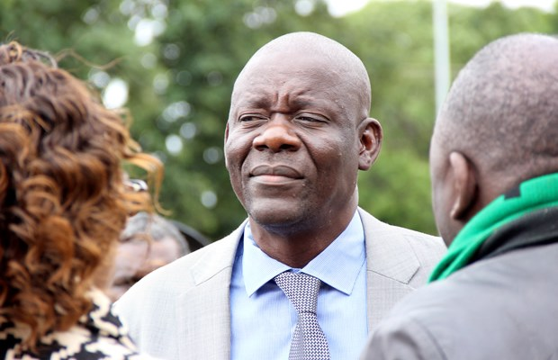 PF secretary general Davis Mwila at the Youth Day celebrations in Lusaka-picture by Tenson Mkhala