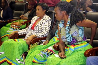 FDD women during a media briefing at Lusaka's Courtyard Hotel - picture by Tenson Mkhala