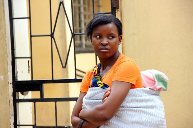 A woman looking shocked after hearing the closure of Chainama Clinic-picture by Tenson Mkhala
