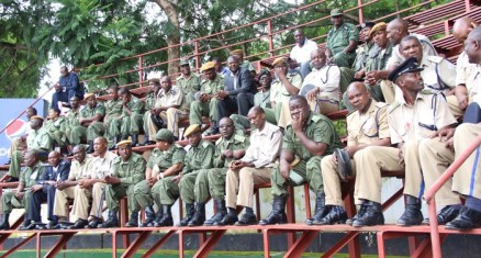 Officers watch proceedings of the 2017 Police Day at the Lusaka showgrounds on March 4 - Picture by Joseph Mwenda