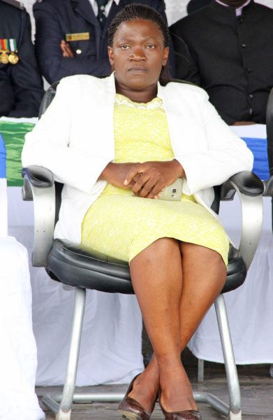 Former Inspector General of police Stella Libongani at the 2017 Police Day at the Lusaka showgrounds on March 4 - Picture by Joseph Mwenda