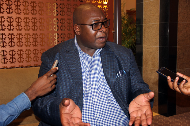 Kantanshi MP Anthony Mumba speaks to journalist in Lusaka-picture by Tenson Mkhala