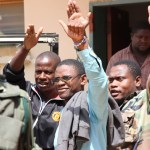 Chilufya Tayali after appearing in the Lusaka Magistrates' Court-picture by Tenson Mkhala