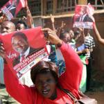UPND supporters display Free-HH placards at Court - picture By Tenson Mkhala