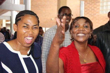 GBM;'s wife Chama (r) with Chief Mukuni's wife Veronica at court during HH's case-Picture by Tenson Mkhala