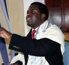 UPP leader Saviour Chishimba speaks to journalist in Lusaka-picture by Tenson Mkhala