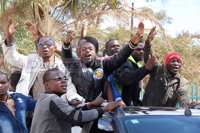 GBM supporters at court