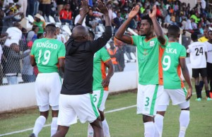 Zesco United celebrate after the game against City of Lusaka at Woodlands Stadium in Lusaka. Zesco won 1-0 Picture By Tenson Mkhala