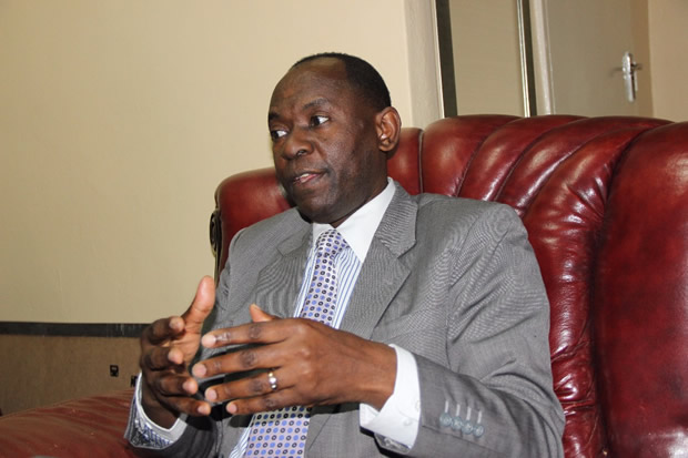Kelvin Bwalya Fube speaks to News Diggers! at his office in Lusaka picture by Tenson Mkhala