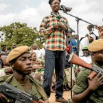 President Edgar Lungu during campaigns