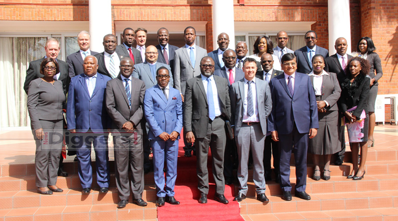 Lungu with Bankers