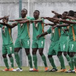 Zambia's Chipolopolo Under 17 celebrate