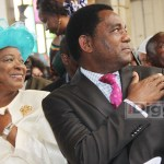 UPND leader Hakainde Hichilema with wife Mutinta during a thanksgiving church service at the Cathedral of the Holy Cross in Lusaka Agust 29, 2017 - picture by Tenson Mkhala