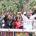 UPND supporters at Lusaka High Court during HH's treason case on August 14, 2017 - picture by Tenson Mkhala