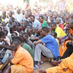 Inmates listen to Justice minister Given Lubinda who addressed them at Lusaka Central Prison August 25, 2017 picture by Tenson Mkhala
