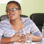 Alliance for Community Action executive director Laura Miti speaks to journalists during a Joint for Accountability in Zambia (JAZZ) press briefing on the planned citizen demonstration to demand full disclosure of public resources management in Lusaka on September 26, 2017 - Picture by Tenson Mkhala