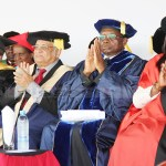 Chancellors during the University of Zambia (UNZA) chancellor during the 47th graduation ceremony award of honorary degree to Dr George  Sokota in Lusaka 0n December 18, 2017 - Picture by Tenson Mkhala
