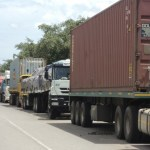 Border traffic for trucks in Zambia