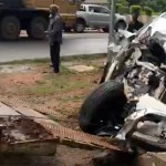 Accident scene for Kabila's motorcade