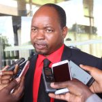 UPND Choma Central MP Cornelius Mweetwa speaks to journalists in Lusaka shortly after President Edgar Lungu's address to Parliament on March 16, 2018 - Picture by Tenson Mkhala