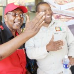 UPND vice-president Geoffrey Bwalya Mwamba and  deputy Secretary General Patrick Mucheleka (r) at Woodalnds Shopping Complex in Lusaka on April 18, 2018 - Picture by Tenson Mkhala