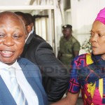 Former Bank Governor DR. Caleb Fundanga with wife who is also Chilubi Member of Parliament Rosaria  shortly after the 2019 presentation of the National Budget by Finance Minister Margaret Mwanakatwe on September 28, 2018 – Picture by Tenson Mkhala