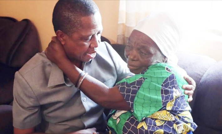 President Lungu with his family in Petauke
