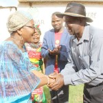 Kasempa District UPND Member of Parliament Brenda Tambatamba her party district chairperson Davison Wahuna when she visited the area on December 8, 2018 – Picture by Tenson Mkhala