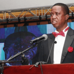 "President Edgar Chagwa Lungu  at the First-ever-Annual Economics Gala Dinner organised by the Economics Association of Zambia under the theme: ""Uniting Towards Achieving An Integrated Approach To National Economic Development"" at InterContinental  Hotel on Wednesday, December 12,2018-Picture by Thomas Nsama"