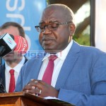 Health Minister Dr Chitalu Chilufya speaks during the birthday celebration of Queen Elizabeth in Lusaka on April 25, 2019 - Picture by Tenson Mkhala