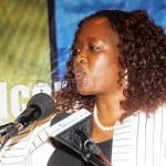 Financial Intelligence Centre Director General Mary Chirwa speaks during the launch of the 2018 Money Laundering/Terrorist Financing Trends Report at Intercontinental Hotel in Lusaka on May 31, 2019 - Picture by Tenson Mkhala
