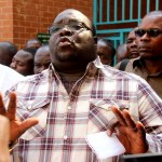 NDC leader Chishimba Kambwili speaks to journalists at Lusaka Magistrates' Court on September 30, 2019