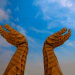 Hands sculpture