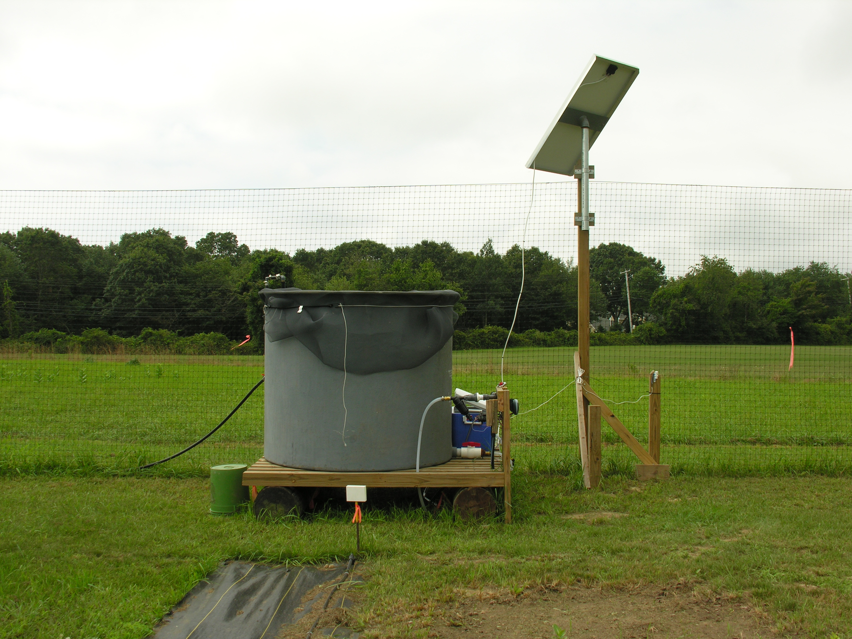 The solar watering system