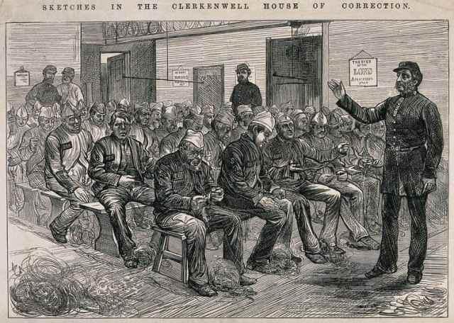 Men Picking Oakum at Clerkenwell House of Correction