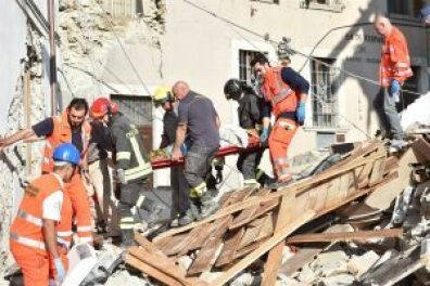Central Italy Earthquake Rescue